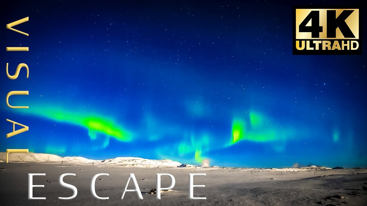 Arctic Howling Wind Sounds for Sleeping, Relaxing   Northern Lights