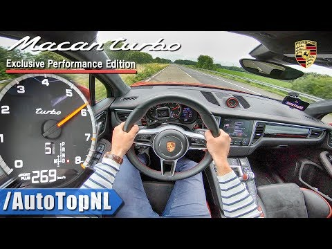 PORSCHE MACAN TURBO 440HP PERFORMANCE PACK   AUTOBAHN POV TOP SPEED by AutoTopNL