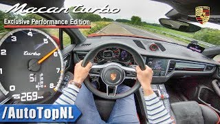 PORSCHE MACAN TURBO 440HP PERFORMANCE PACK | AUTOBAHN POV TOP SPEED by AutoTopNL