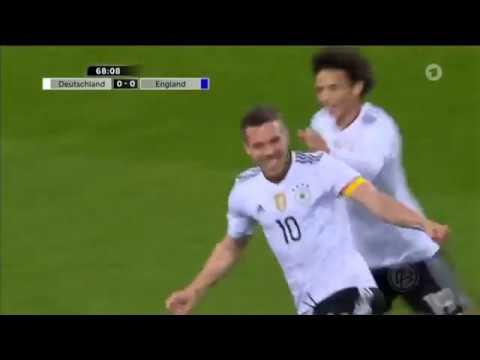 Germany vs England Lukas Podolski Goal HD   22-03-2017 Friendly Match