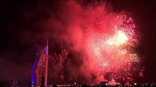 Dubai NYE Fireworks 2017 Burj Al Arab 4K