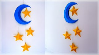 Moon & Stars Wall Hanging Decor   Wall Hanging Craft Ideas   Paper Craft