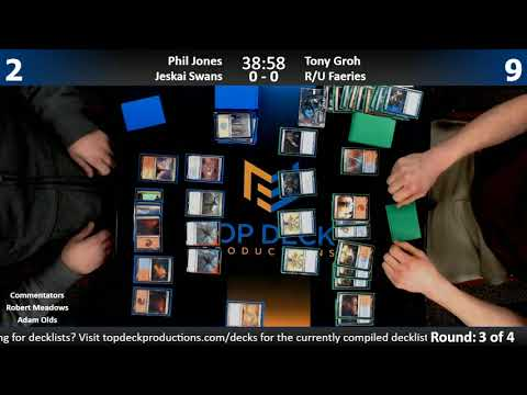 Modern w/ Commentary 1/25/18: Phil Jones (Jeskai Swans) vs. Tony Groh (R/U Faeries)