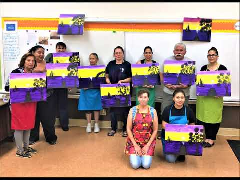 Alina Mata Divine Saviour School Paint Night Los Angeles