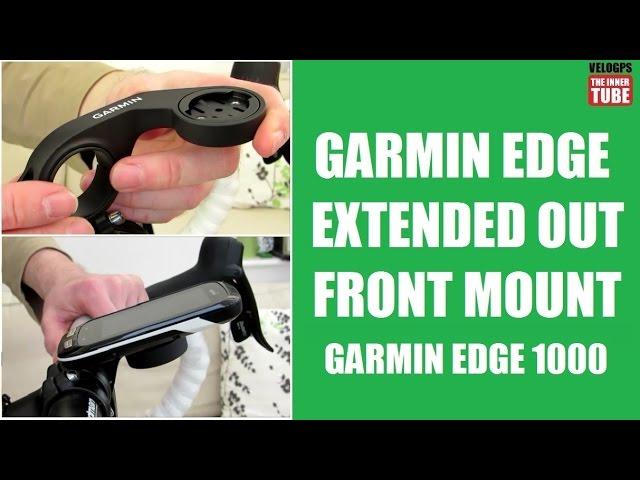Out Front Mount pour Garmin Edge 1000 Noir