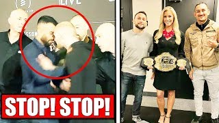 McGregor's teammate SCUFFLES with opponent, UFC Stockholm face-offs; Max Holloway on Frankie Edgar