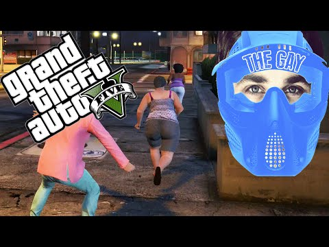 CHASING FAT GIRLS! - Grand Theft Auto V - Funny Moments/Fails - Gay Gamer