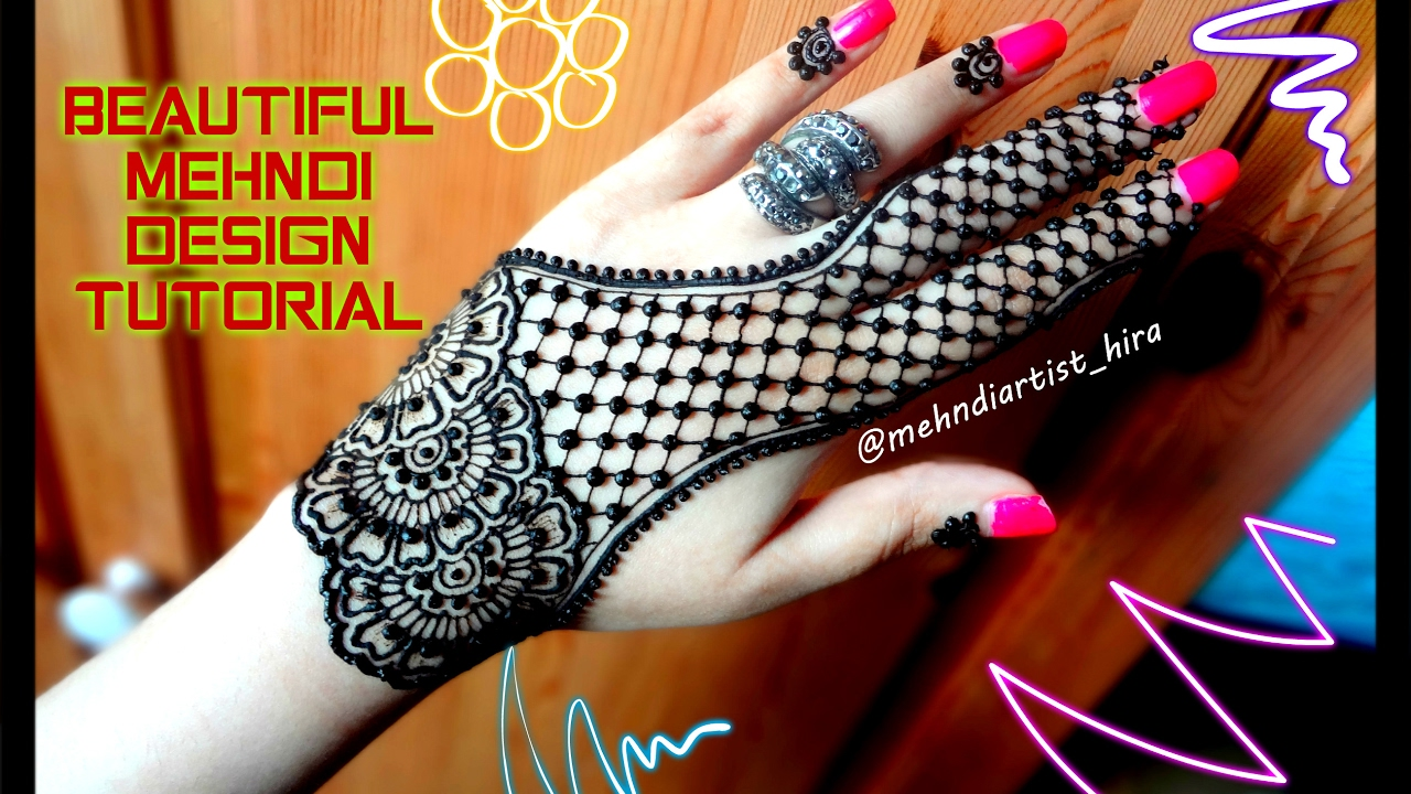 Mehndi Designs Tutorial Youtube : How to apply easy simple henna mehndi designs for hands