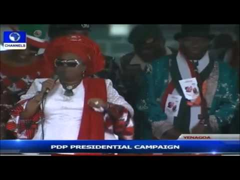Patience Jonathan's Bayelsa Rally Speech Goes