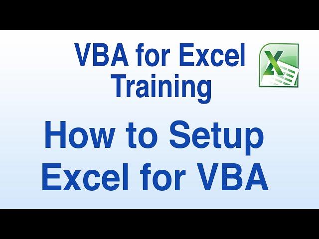 VBA for Excel Training Tutorials