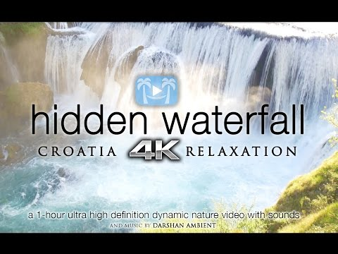 4K HIDDEN WATERFALL RELAXATION | Croatia 1HR Nature Video ft Darshan Ambient