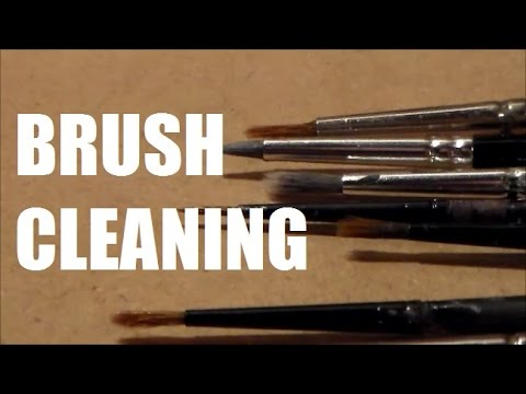 How i deep cleaned my paint brushes