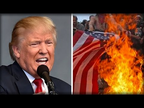TRUMP TWEETS OUT HIS VERSION OF JUSTICE FOR THOSE WHO BURN THE AMERICAN FLAG