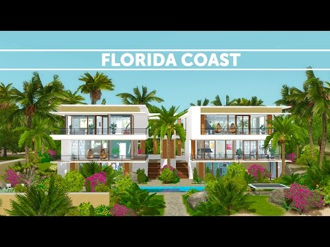 The Sims 3 House Building - Florida Coast - Speed Build