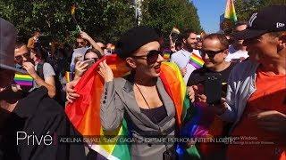 Adelina Ismaili në paradën e krenarisë të komunitetit LGBTI STORY: ...