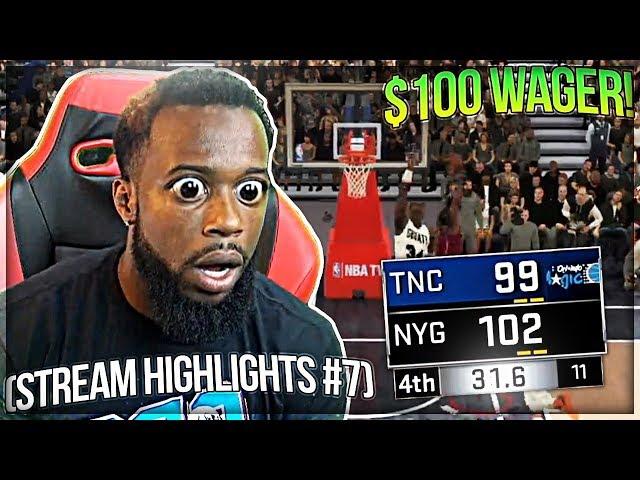CashNasty Crazy $100 NBA 2k18 Wager! (Stream Highlights #7)