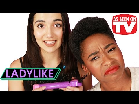 "Thumbnail: Women Try ""As Seen on TV"" Hair Products • Ladylike"