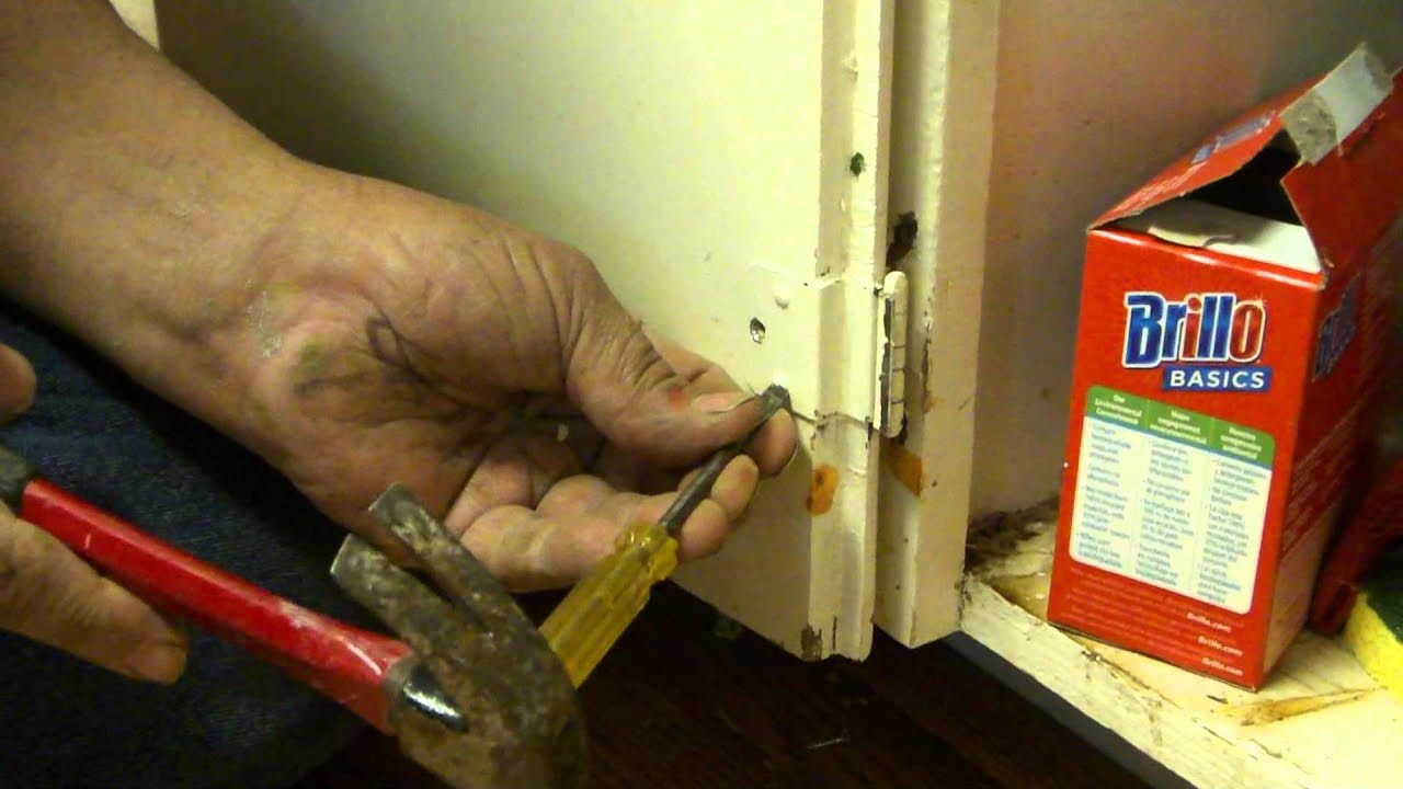 How To Install A Cabinet Hinge - YouTube