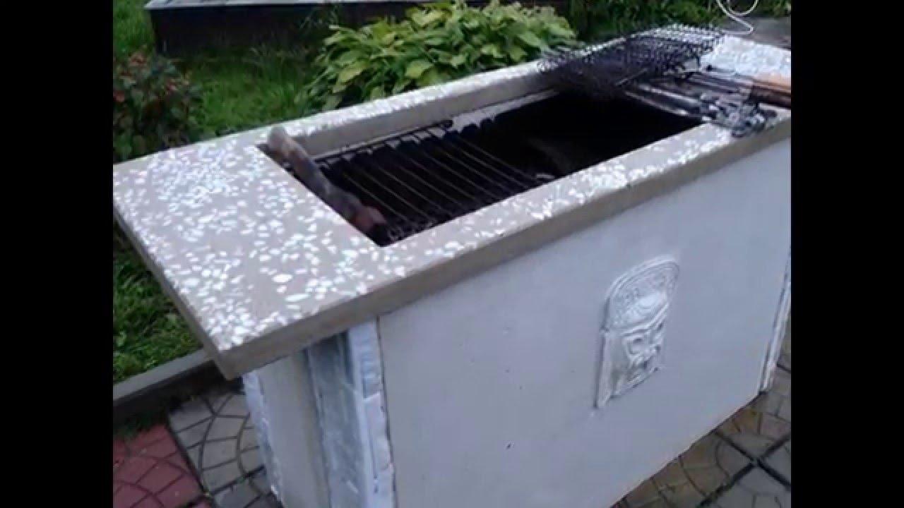 Столешница для мангала из бетона столешница для кухни глянцевые