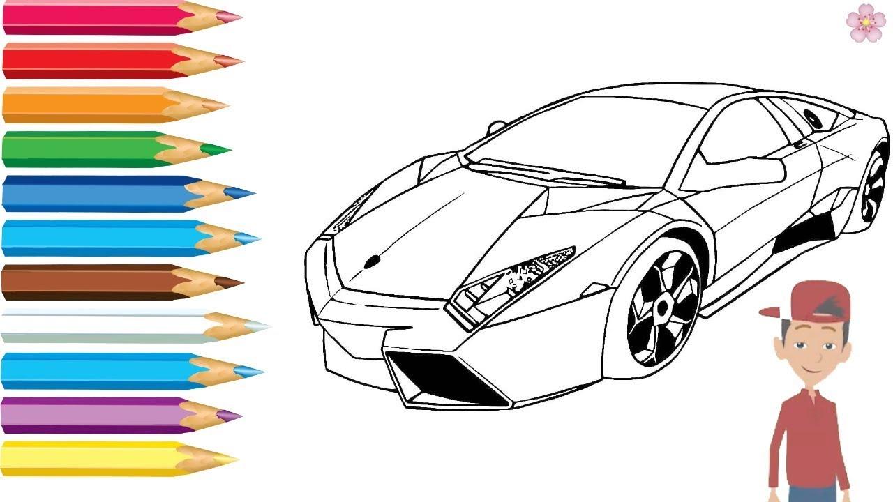 Раскраска 🚘спорт Машинки Мультик -Раскраска для детей Учим ...