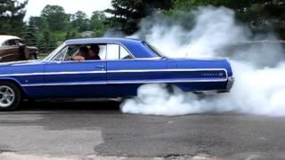 64 impala bad ass flame burnout