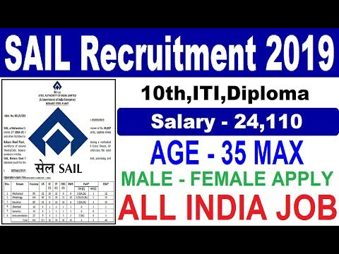 SAIL Recruitment 2019 How to Apply Online for SAIL Job Steel Plant Vacancy 2019