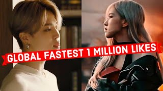 Global Fastest Songs to Reach 1 Million Likes on Youtube of All Time (Top 30)