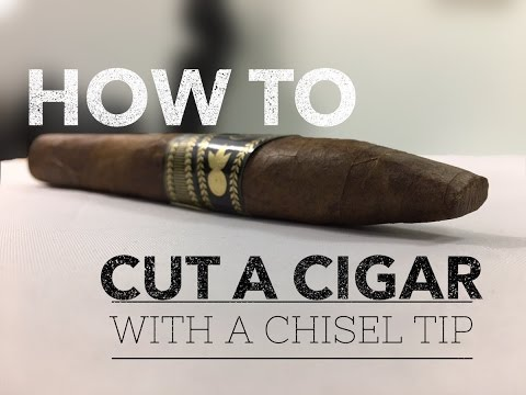 How to Cut a Cigar with a Chisel Tip - Cigar Smoking Tips