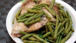 香港食譜:白豆角煮大魚腩
