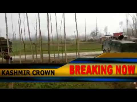 Kashmir Pulwama Encounter Heavy firing Visuals Captured by Video Journalist Wani Majid