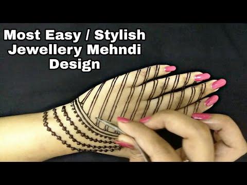 Easy / Latest Jewellery Mehndi Design | Unique Henna Designs | Latest Mehndi Designs | 2018