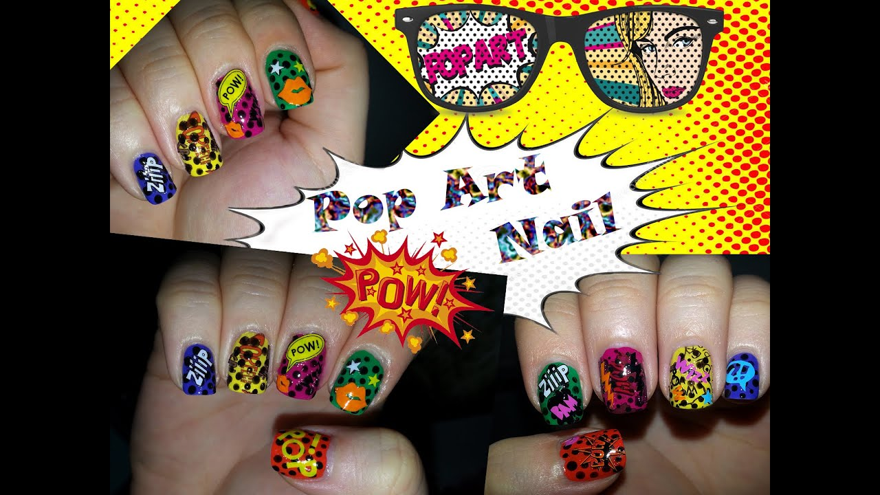 Easy Pop Art Nail Youtube