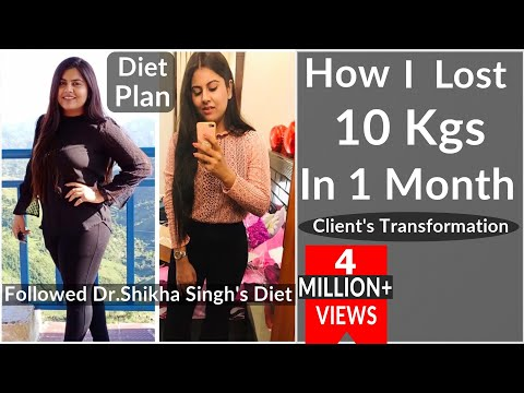 How I Lost 10 Kg In 1 Month – By Dr. Shikha Singh | Clients Transformation | Jigyasa Diet Plan|Hindi