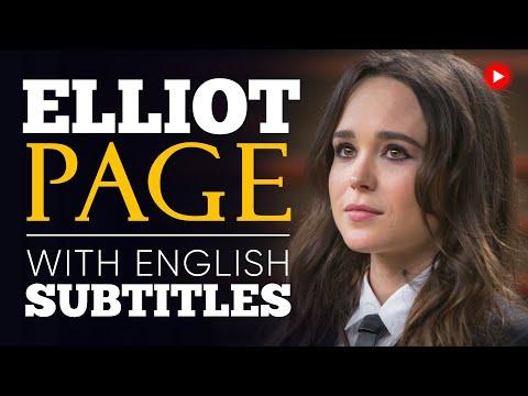ENGLISH SPEECH   ELLEN PAGE: Accept Yourself (English Subtitles)