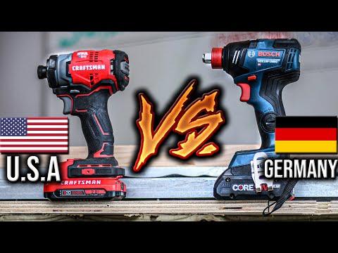 Craftsman V20 Impact Driver VERSUS Bosch Freak - Made In USA VS Germany