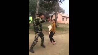 Indian soldier and pretty girl amazing dance