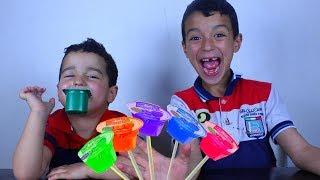 Fingers Family Kid Song Colorful Yogurt Cute rayan and kid Kinderlieder und lernen Farben Baby spiel