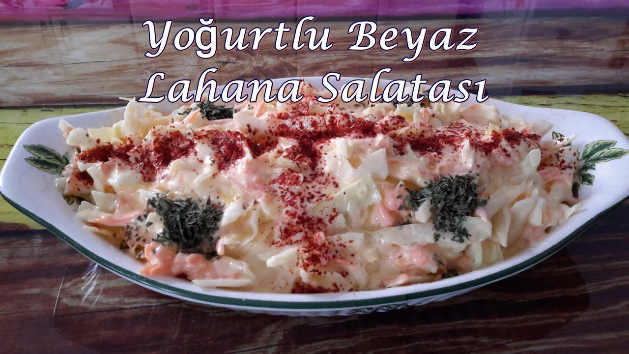 Cevizli Beyaz Lahana Salatası Tarifi Videosu