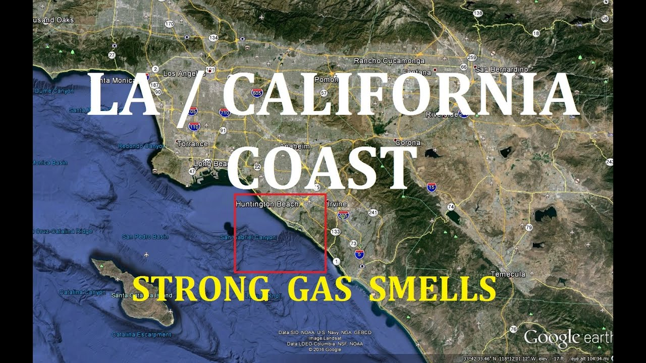 South Los Angeles California Strong Gas Smell - Los angeles gas map