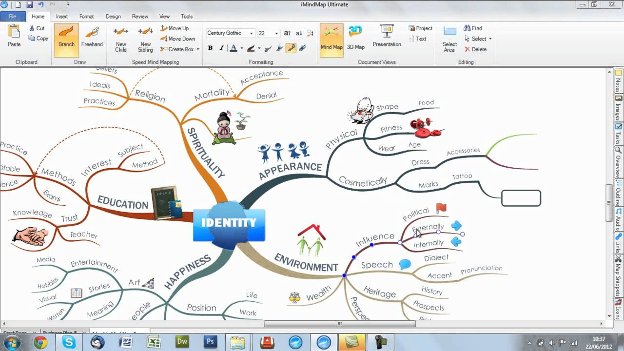 imindmap 6 changing branch colours - I Mindmap