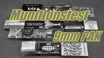Munitonstest / Vergleich 9mm PAK Schreckschuss Munition