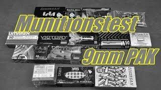 Munitonstest / Vergleich 9mm PAK Schreckschuss Munition 2013/2014