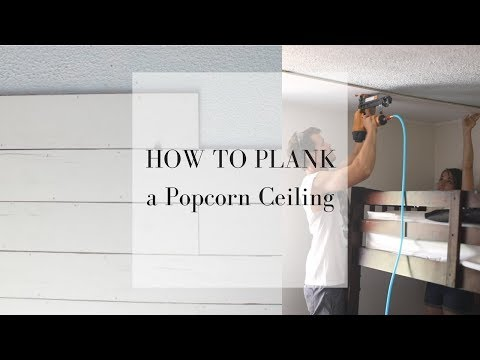 How to Plank a Ceiling | DIY SHIPLAP WITH PLYWOOD