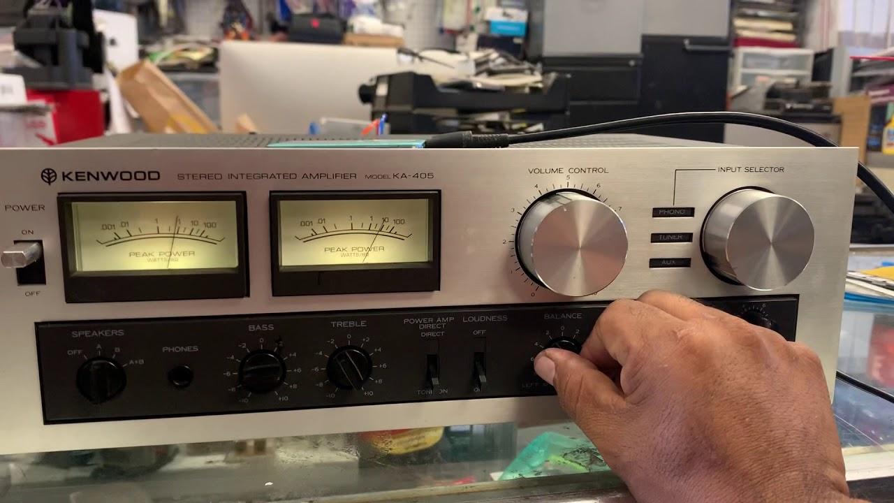 Vintage Kenwood KA-405 sound testing for eBay