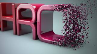 Cinema 4D r16 Tutorial: Particles Transition to Text - PolyFX thumbnail