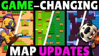 6 Game-Changing Map Updates that will Shift the Meta | Brawl Stars Maps Before & After