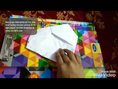 How to make paper wicket keeping gloves