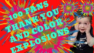 100 Fans | Exploding Colors | Preschool Science Experiments | Bestie Mom Club