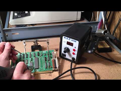 #7 Desoldering Large DIP/Through Hole Chips with a Cheap Heat Gun