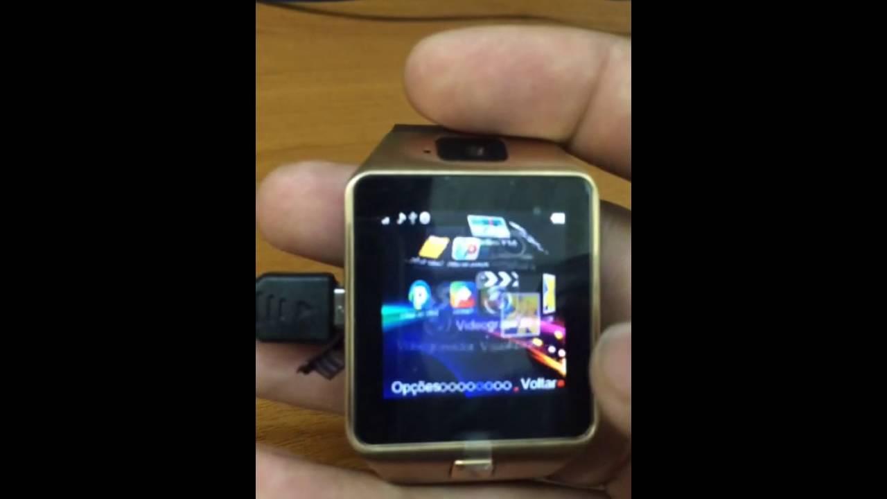 86962cfc359 DZ09 smartwatch review (LIGAÇÃO CHIP) portugues - YouTube